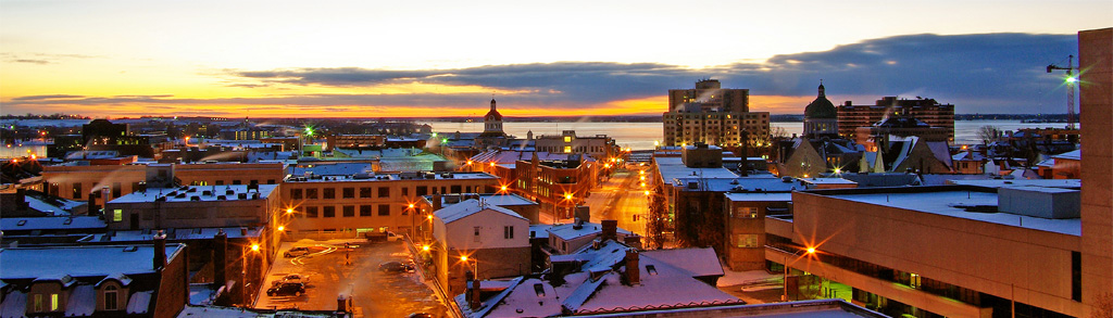 downtown Kingston at sunrise